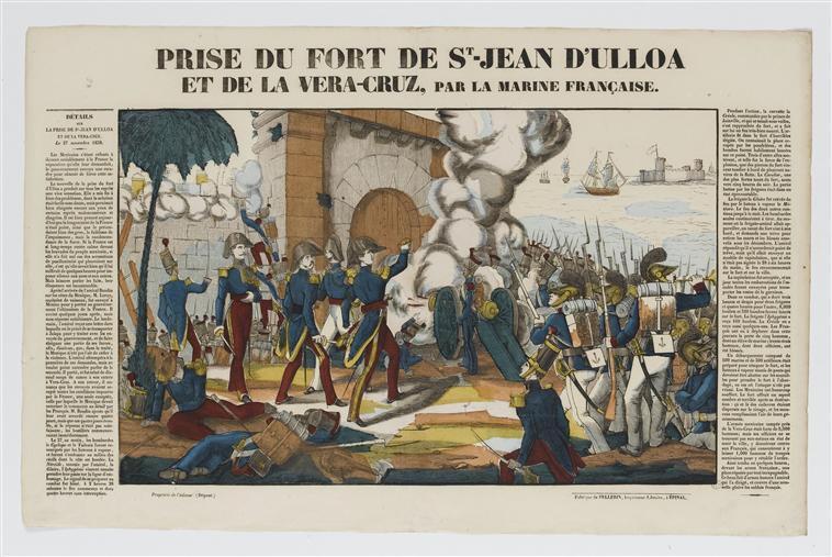 PRISE DU FORT DE St-JEAN D'ULLOA ET DE LA VERA-CRUZ, PAR LA MARINE FRANCAISE (titre inscrit)