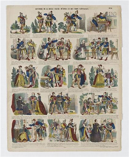 HISTOIRE DE LA BELLE FLEUR D'EPINE ET DES TROIS CAPITAINES (titre inscrit)