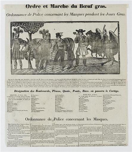 Ordre et Marche du Boeuf gras (titre inscrit)