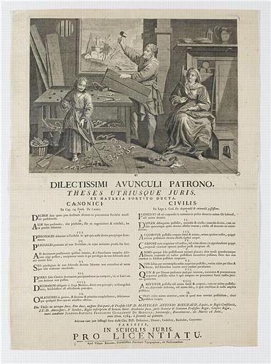 DILECTISSIMI AVUNCULI PATRONO (titre inscrit, latin)