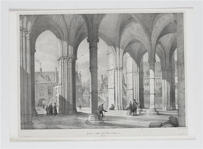 Porte de l'Eglise Notre Dame à Beaune (titre inscrit)
