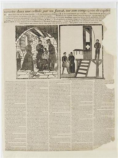meurtre dans une cellule, par un forçat, sur son compagnon de captivi[té] (titre inscrit)