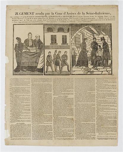 JUGEMENT rendu par la Cour d'Assise de la Seine-Inférieure (titre inscrit)