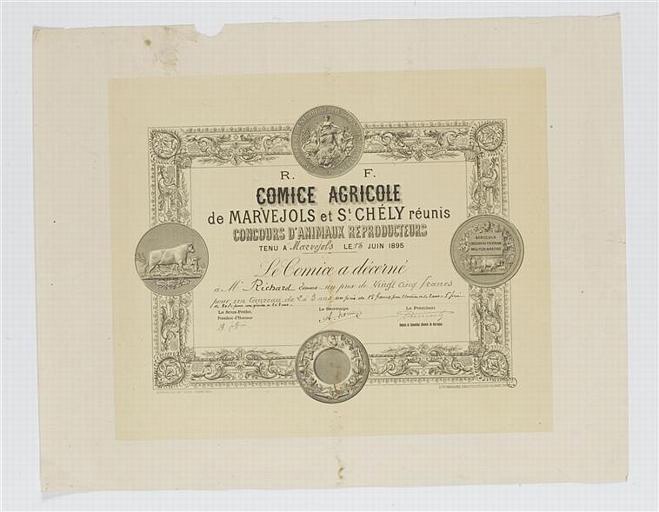 CONCOURS D'ANIMAUX REPRODUCTEURS (titre inscrit)
