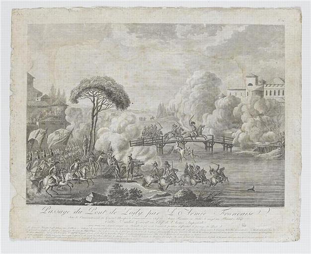 Paysage du Pont de Lody par l'Armée Française (titre inscrit)