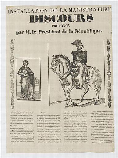 INSTALLATION DE LA MAGISTRATURE / DISCOURS / PRONONCÉ / par M. le Président de la République (titre inscrit)