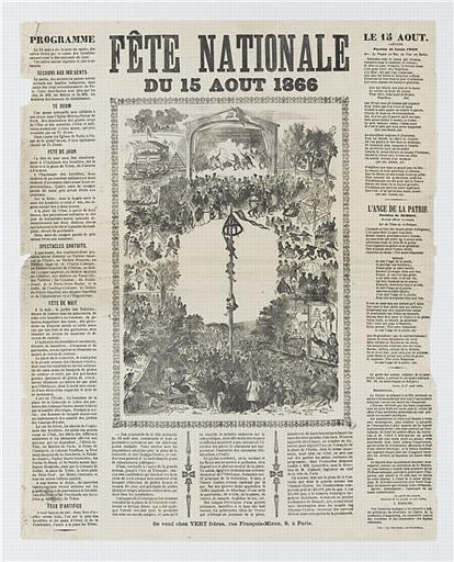 FETE NATIONALE DU 15 AOUT 1866 (titre inscrit)