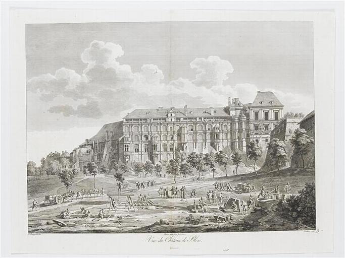 Vue du Château de Blois (titre inscrit)