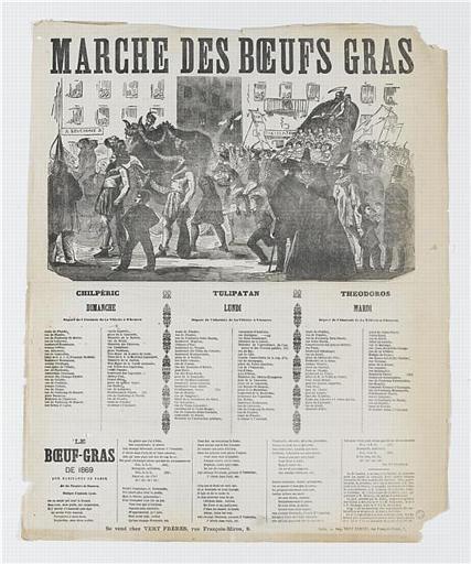 MARCHE DES BOEUFS GRAS (titre inscrit)