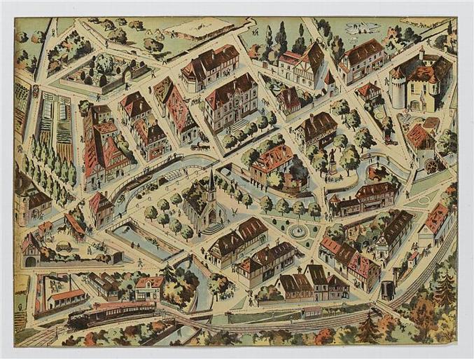Vue aérienne d'un village (titre factice)_0