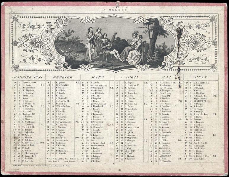 LA MELODIE (titre inscrit) ; UNE SOIREE D'ETE (titre inscrit)
