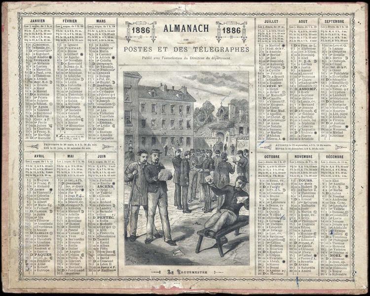 ALMANACH DES POSTES ET TELEGRAPHES / LE VAGUEMESTRE (titre inscrit)_0