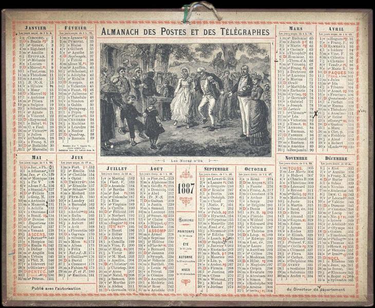 ALMANACH DES POSTES ET TELEGRAPHES / LES NOCES D'OR (titre inscrit)_0