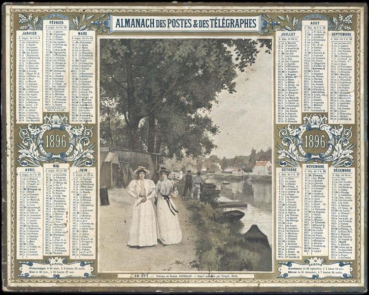 ALMANACH DES POSTES ET DES TELEGRAPHES / EN ETE (titre inscrit)_0