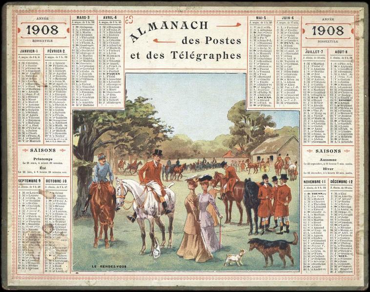ALMANACH DES POSTES ET DES TELEGRAPHES / LE RENDEZ-VOUS (titre inscrit)_0