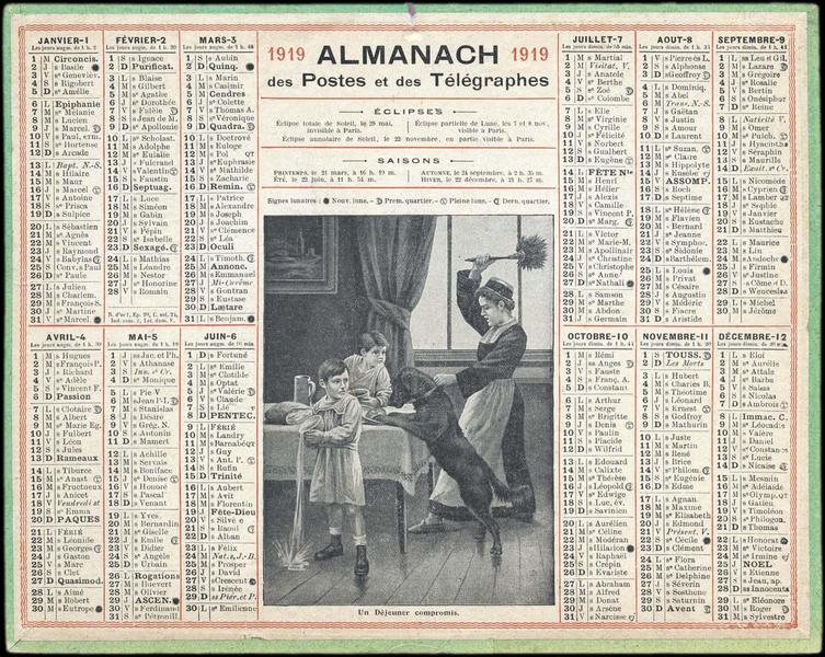 ALMANACH des Postes et des Télégraphes / Un Déjeuner compromis (titre inscrit)_0