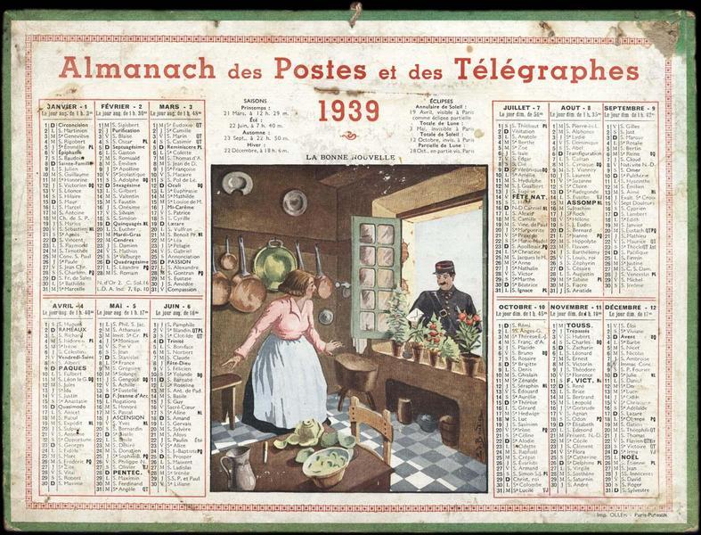 Almanach des Postes et des Télégraphes / LA BONNE NOUVELLE (titre inscrit)_0