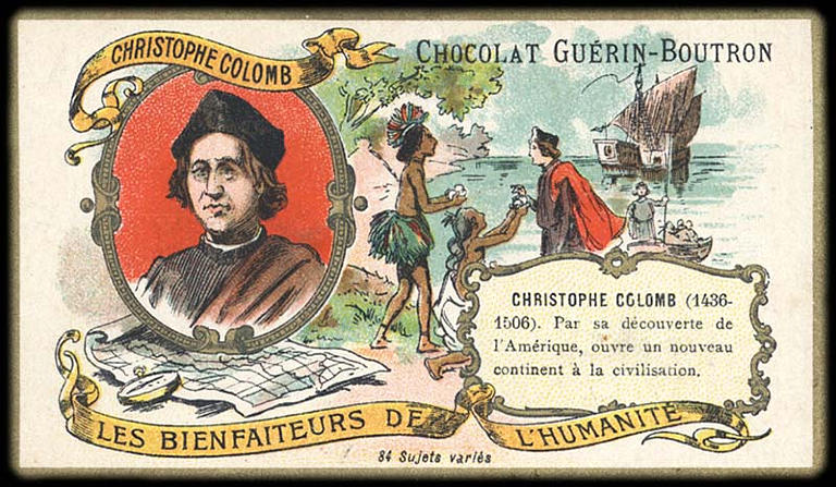 LES BIENFAITEURS DE L'HUMANITÉ ; CHRISTOPHE COLOMB (titre inscrit)