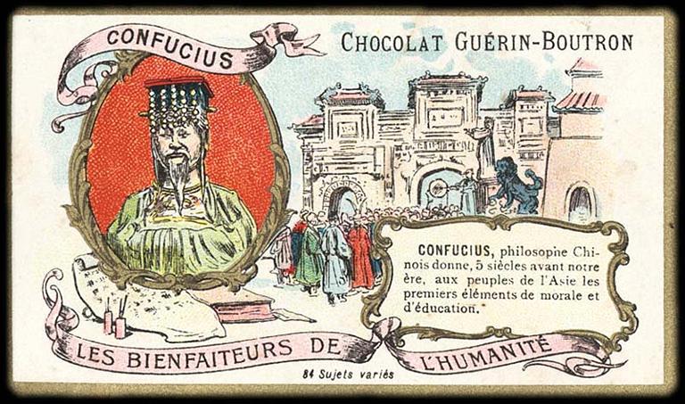 LES BIENFAITEURS DE L'HUMANITÉ ; CONFUCIUS (titre inscrit)