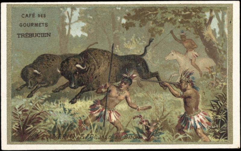 2 - AMERIQUE. Chasse au Bison (titre inscrit)