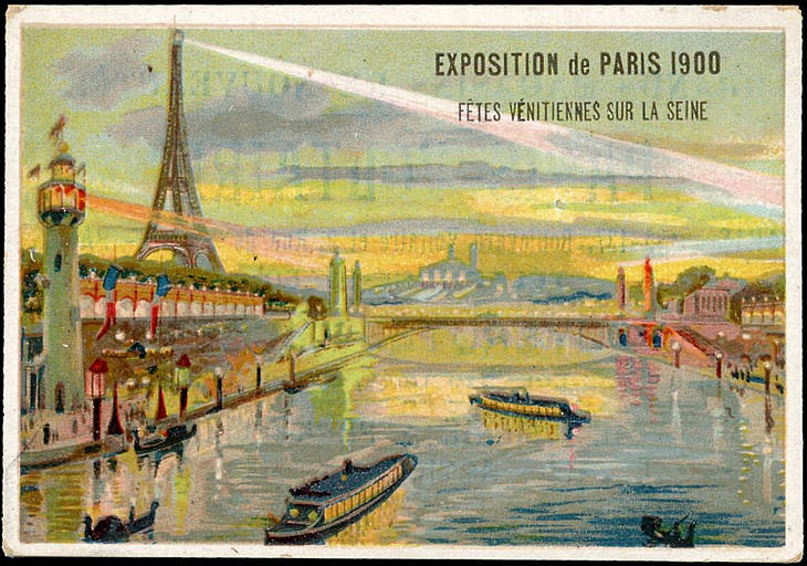 EXPOSITION Universelle DE PARIS 1900 / FETES VENITIENNES SUR LA SEINE (titre inscrit)