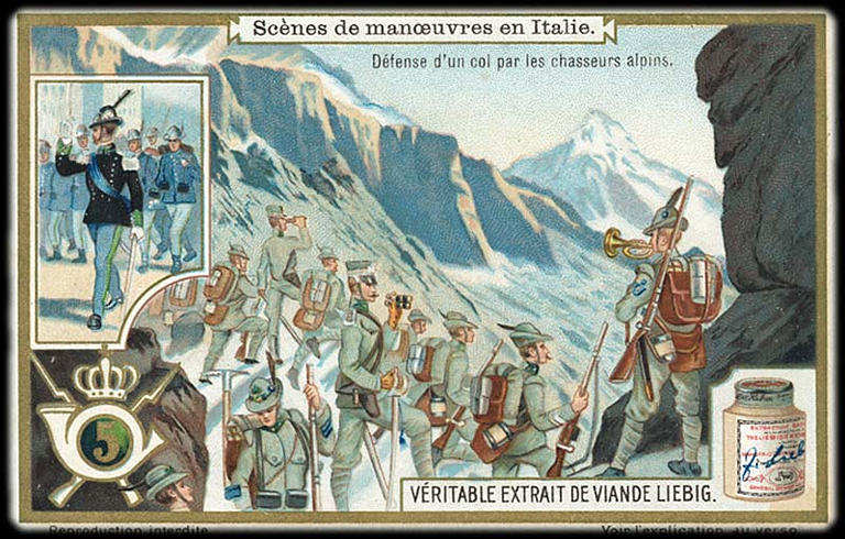 Scènes de manoeuvres en Italie (titre inscrit)