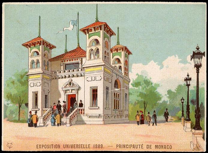 EXPOSITION UNIVERSELLE 1889. - PRINCIPAUTé DE MONACO (titre factice)