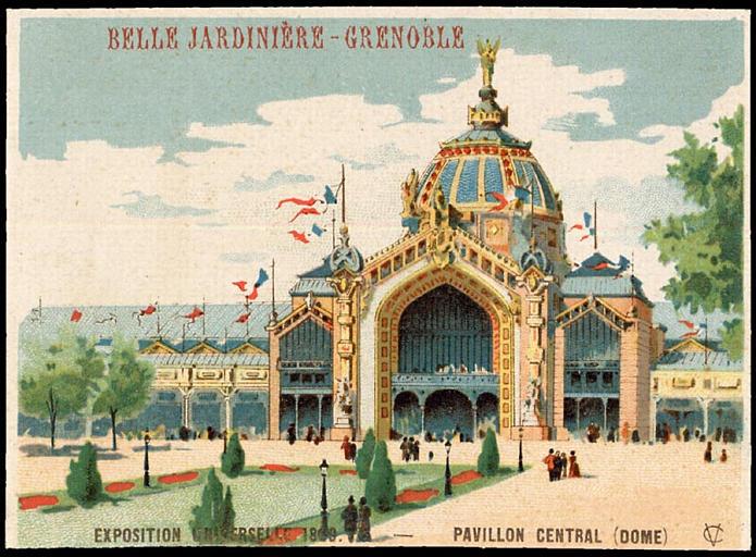 EXPOSITION UNIVERSELLE 1889. - PAVILLON CENTRAL (DOME) (titre factice)