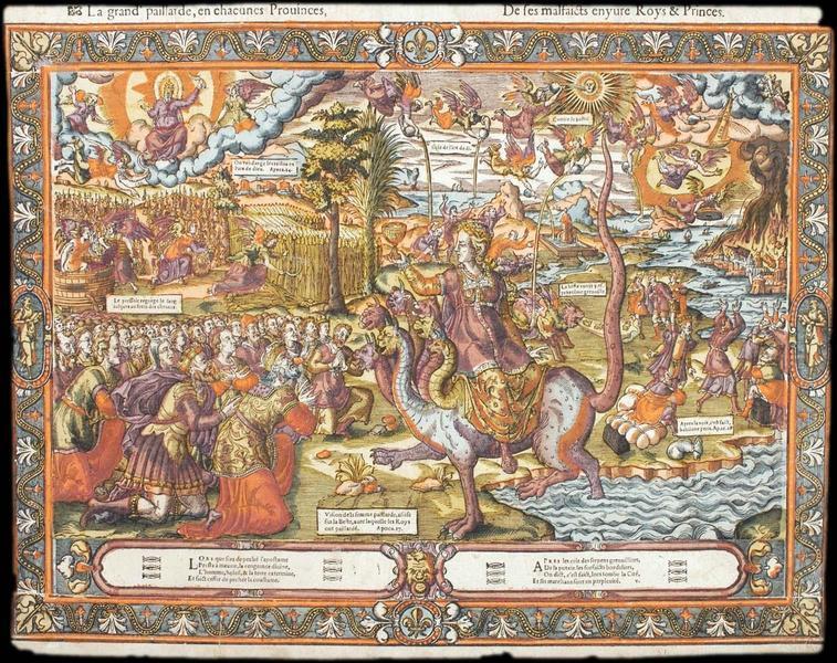 La grand' paillarde, en chacunes Povinces, De ses malfaicts enyure Roys & Princes (titre inscrit)