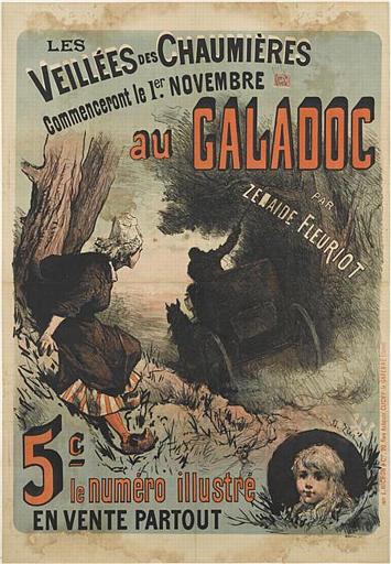 LES / VEILLÉES DES CHAUMIÈRES / Commenceront le 1er NOVEMBRE / au GALADOC (titre inscrit)