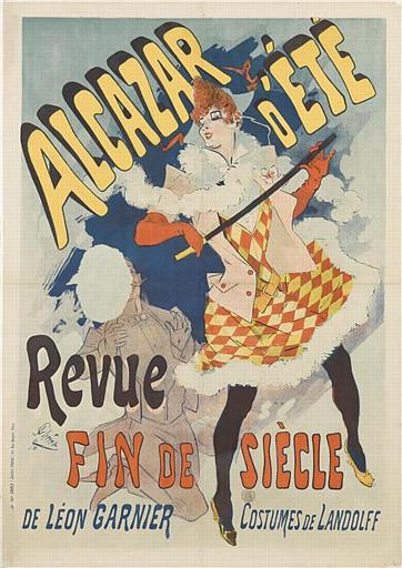 ALCAZAR D'ÉTÉ / Revue / FIN DE SIÈCLE / DE LÉON GARNIER COSTUME DE LANDOLFF (titre inscrit)