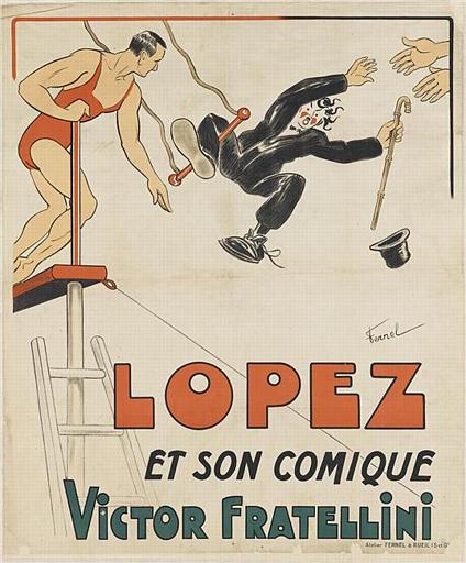 LOPEZ / ET SON COMIQUE / VICTOR FRATELLINI (titre inscrit)