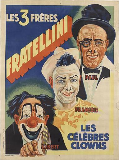 LES 3 FRERES FRATELLINI / PAUL / FRANçOIS / ALBERT / LES / CELÈBRES / CLOWNS (titre inscrit)