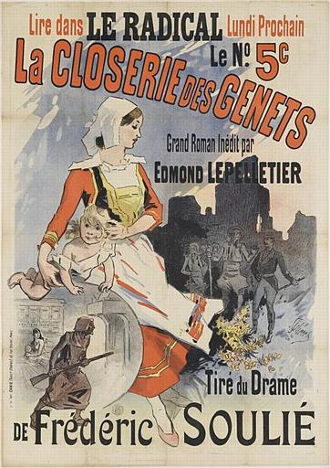 LA CLOSERIE DES GENETS / Grand Roman Inédit par / EDMOND LEPELLETIER (titre inscrit)_0
