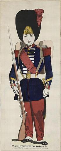 SON ALTESSE LE PRINCE IMPÉRIAL / Sergent au 1er.. Rég.. de Grenadiers de la garde. Né à Paris le 16 Mars 1856 (titre inscrit)