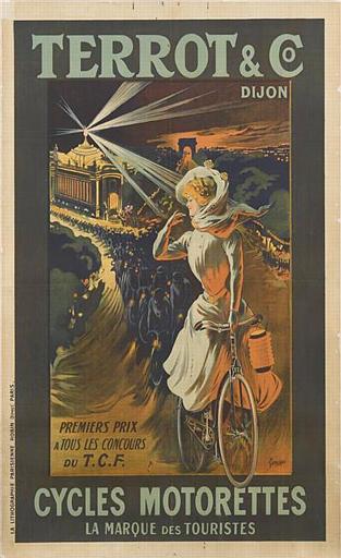 TERROT & CO / DIJON / PERMIER PRIX / A TOUS LES CONCOURS / DU T.C.F. / CYCLES MOTORETTES / LA MARQUE DES TOURISTES (titre inscrit)