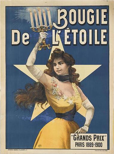 BOUGIE / De L'ETOILE / 'GRANDS PRIX ' / PARIS 1889-1900 (titre inscrit)