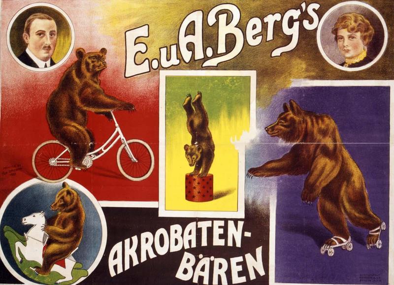 E. uA.Berg's / AKROBATEN- / BÄREN (titre inscrit)