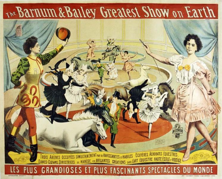 The Barnum & Bailey Greatest Show on Earth (titre inscrit, anglais)