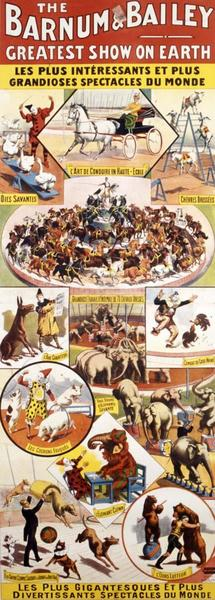 THE / BARNUM & BAILEY / GREATEST SHOW ON EARTH (titre inscrit)