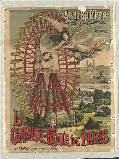 LA GRANDE ROUE DE PARIS / AVE DE SUFFREN EN FACE DE LA GALERIE DES MACHINES (titre inscrit)_0