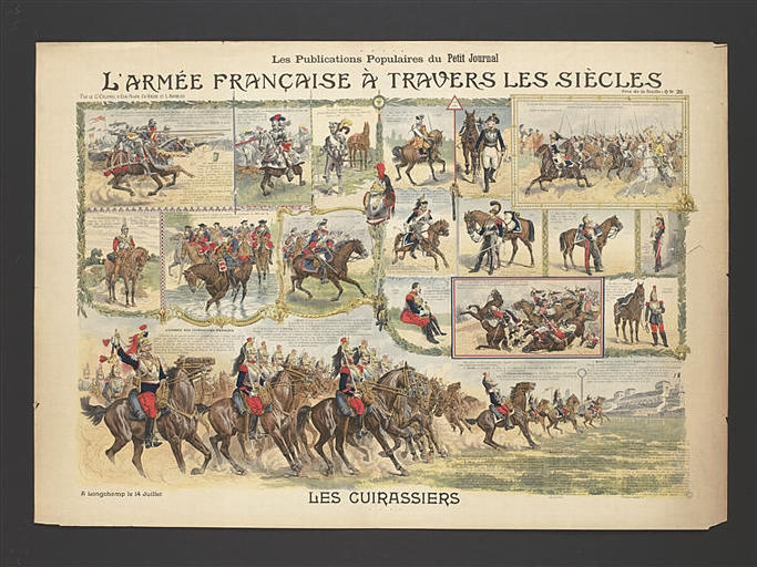L'ARMEE FRANCAISE A TRAVERS LES SIECLES / LES CUIRASSIERS (titre inscrit)_0