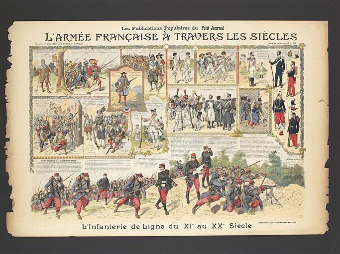 L'ARMEE FRANCAISE A TRAVERS LES SIECLES / L'infanterie de Ligne du XIe au XXe Siècle (titre inscrit)_0