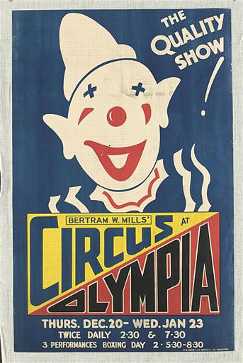BERTRAM W. MILL'S / CIRCUS AT / OLYMPIA (titre inscrit, anglais)_0