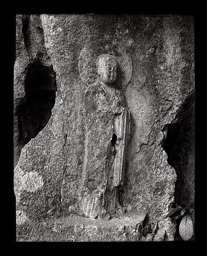 anonyme (photographe) : [Zhejiang]. Hang-tcheou [Hangzhou], Ling-yin sseu [Lingyinsi], [Feilaifeng], Hiuan tsang [Xuanzang]