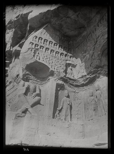 [Shanxi]. Yun-kang [Yungang], grotte E, paroi occidentale