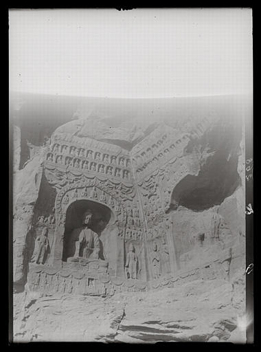 [Shanxi]. Yun-kang [Yungang], grotte F, paroi occidentale_0