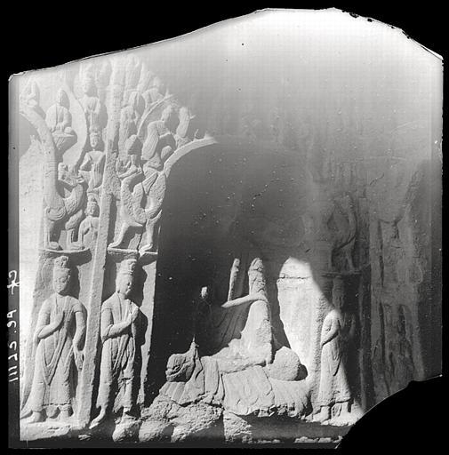 Shanxi. Yungang, détail de paroi de grotte