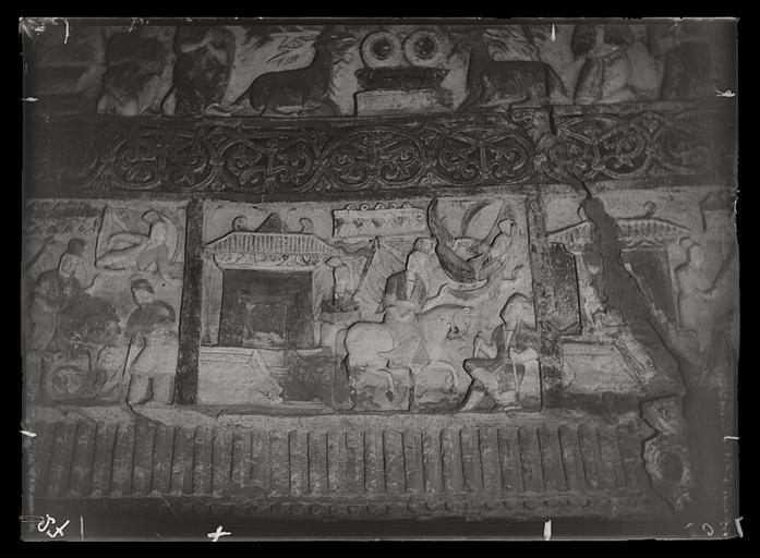 ZHOU : [Shanxi]. Yun-kang [Yungang], grotte n°2, rencontre du malade