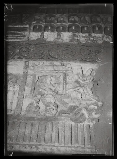 [Shanxi]. Yun-kang [Yungang], grotte n°2, la vie de plaisirs dans le gynécée